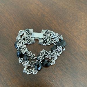 Brighton Sterling Silver and Black Jewels
